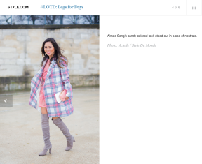 Aimee Song on Style com by STYLEDUMONDE Street Style Street Fashion Streetsnaps