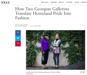 Georgian gallerists story shot by STYLEDUMONDE for VogueCom
