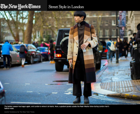 LCM AW 16 streetstyle on NY Times The New York Times by STYLEDUMONDE