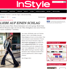 STYLE DU MONDE Street Style Street Fashion Streetsnaps on InStyle Germany Sara Nicole Rossetto