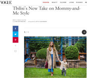 Style Du Monde editorial Mommy-and-Me Style in Tbilisi Georgia on Voguecom