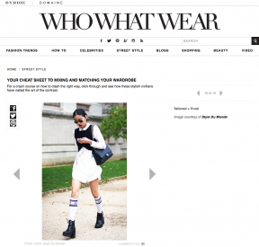 Style Du Monde on Who What Wear January 28 2014 Your Cheat Sheet to Mixing and Matching Your Wardrobe