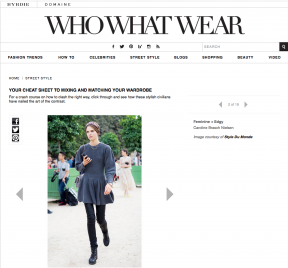 Style Du Monde on Who What Wear January 28 2014 Your Cheat Sheet to Mixing and Matching Your Wardrobe Caroline Brasch Nielsen