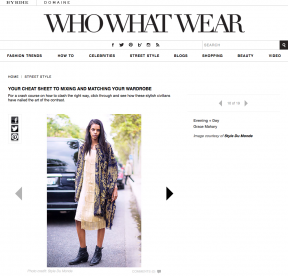 Style Du Monde on Who What Wear January 28 2014 Your Cheat Sheet to Mixing and Matching Your Wardrobe Grace Mahary