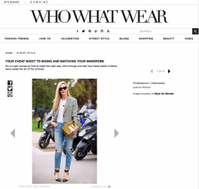 Style Du Monde on Who What Wear January 28 2014 Your Cheat Sheet to Mixing and Matching Your Wardrobe Joanna Hillman