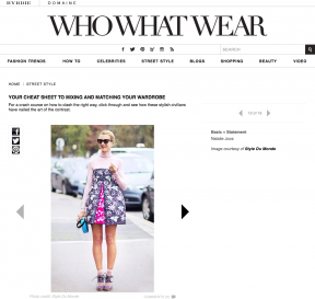 Style Du Monde on Who What Wear January 28 2014 Your Cheat Sheet to Mixing and Matching Your Wardrobe Natalie Joos