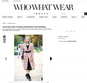 Style Du Monde on Who What Wear January 28 2014 Your Cheat Sheet to Mixing and Matching Your Wardrobe Soo Joo Park