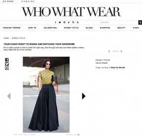 Style Du Monde on Who What Wear January 28 2014 Your Cheat Sheet to Mixing and Matching Your Wardrobe Yasmin Sewel