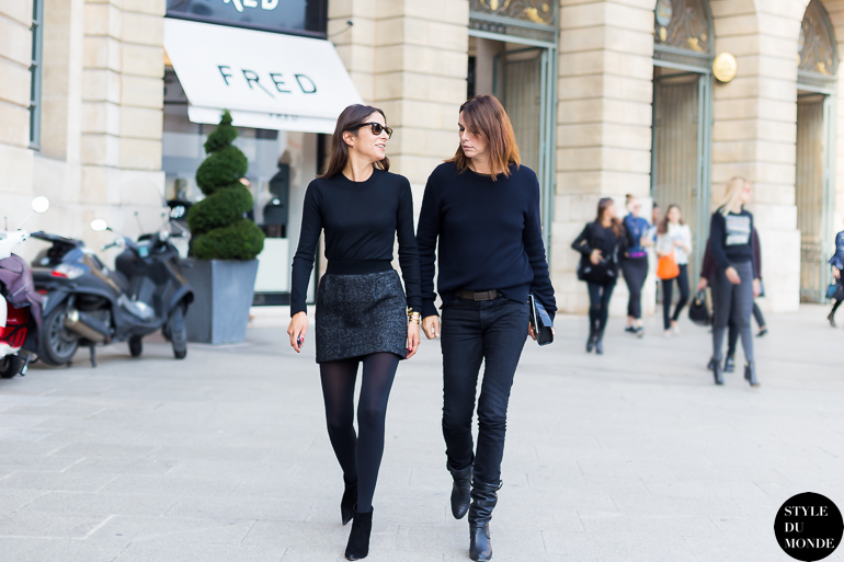 Capucine Safyurtlu and Claire Dhelens Vogue Paris Team Street Style Street Fashion by STYLEDUMONDE Street Style Street Fashion blog