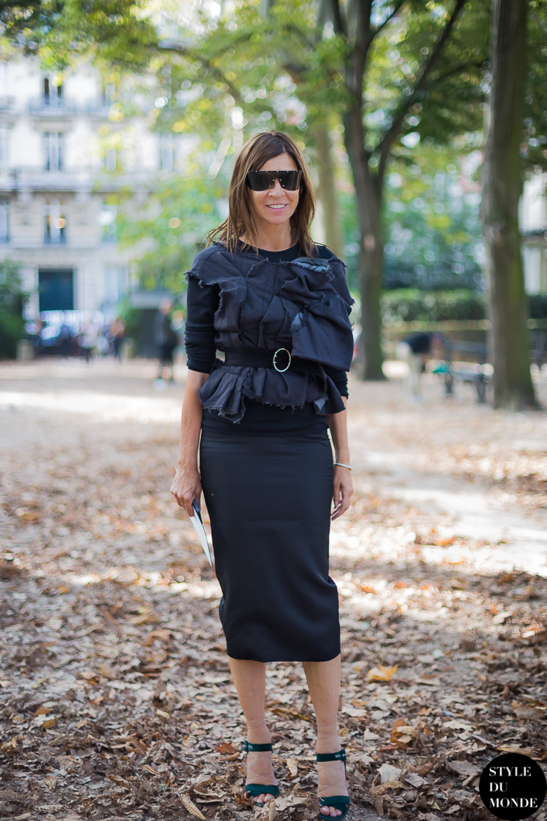 Carine Roitfeld Street Style Street Fashion by STYLEDUMONDE Street Style Street Fashion blog