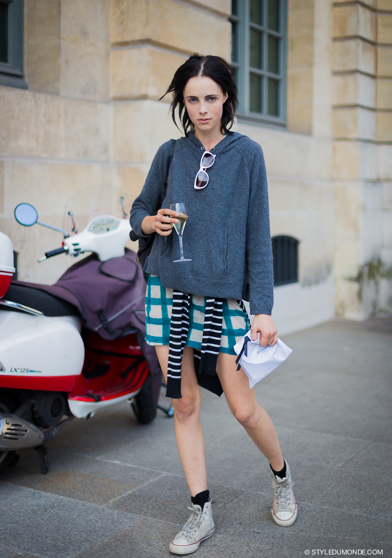 Edie Campbell Street Style Street Fashion by STYLEDUMONDE Street Style Street Fashion blog