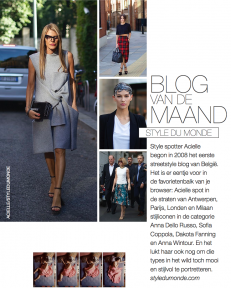STYLE DU MONDE blog of the month on Marie Claire NL December 2013
