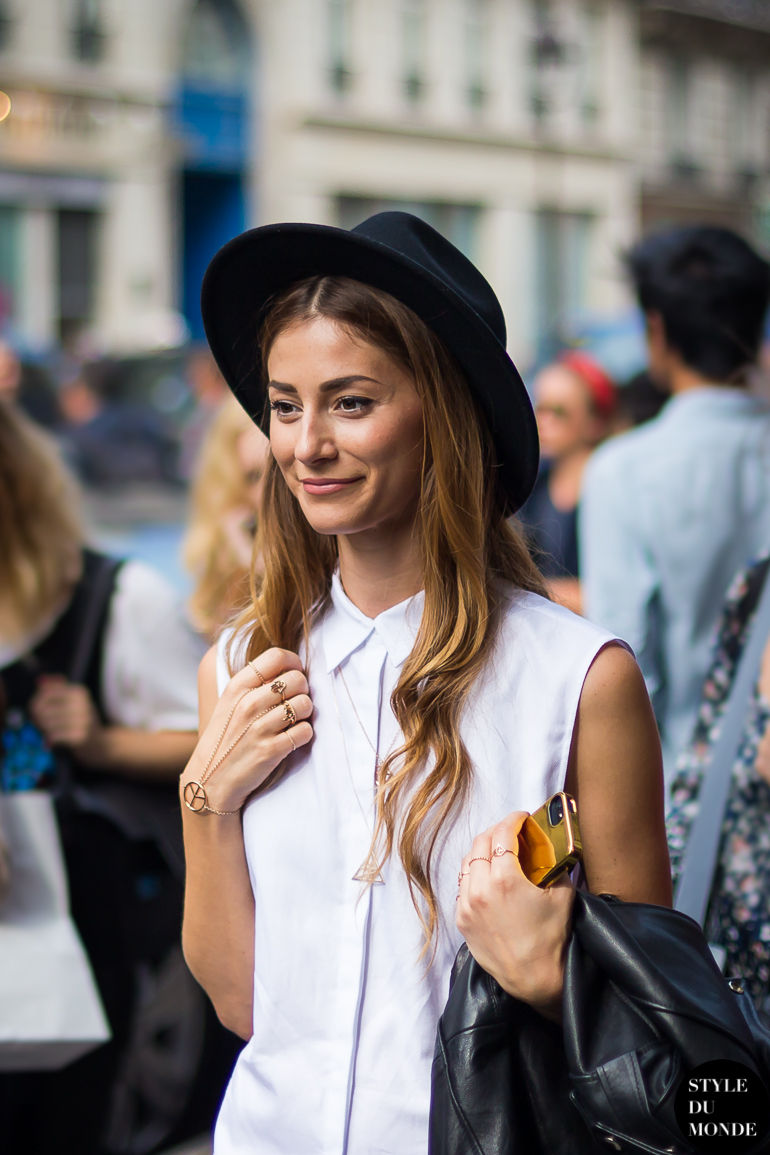 Before Balmain Hat Street Style Street Fashion by STYLEDUMONDE Street Style Street Fashion blog
