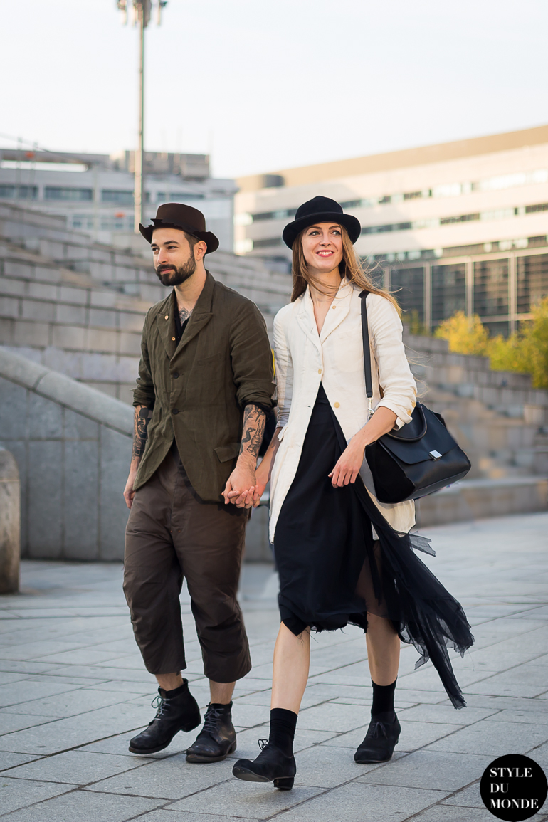 Mike Nouveau & Madison Stephens Street Style Street Fashion by STYLEDUMONDE Street Style Street Fashion blog