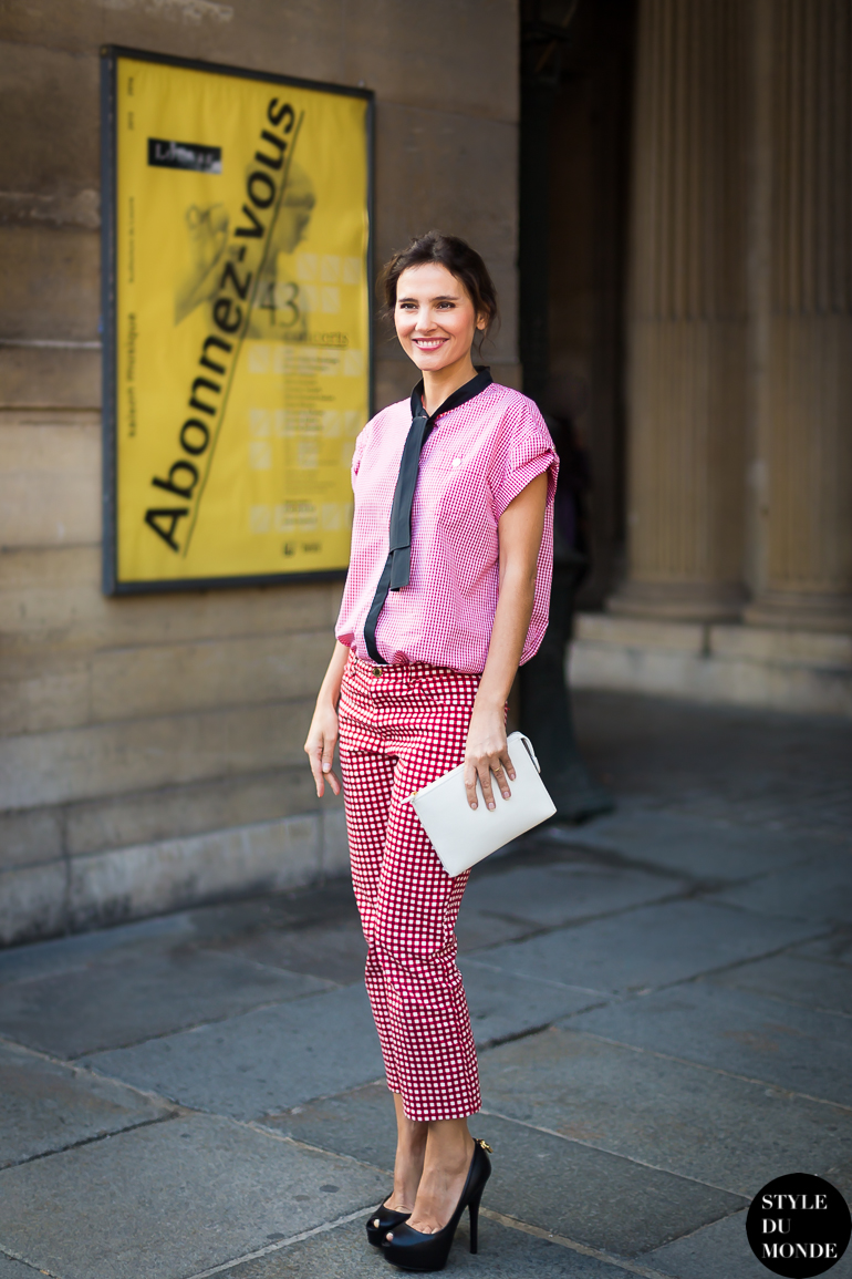 Virginie Ledoyen Street Style Street Fashion by STYLEDUMONDE Street Style Street Fashion blog