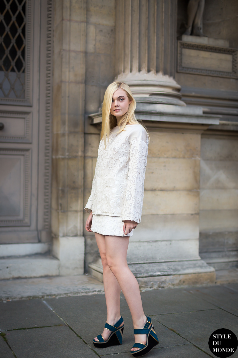Elle Fanning Street Style Street Fashion by STYLEDUMONDE Street Style Street Fashion blog