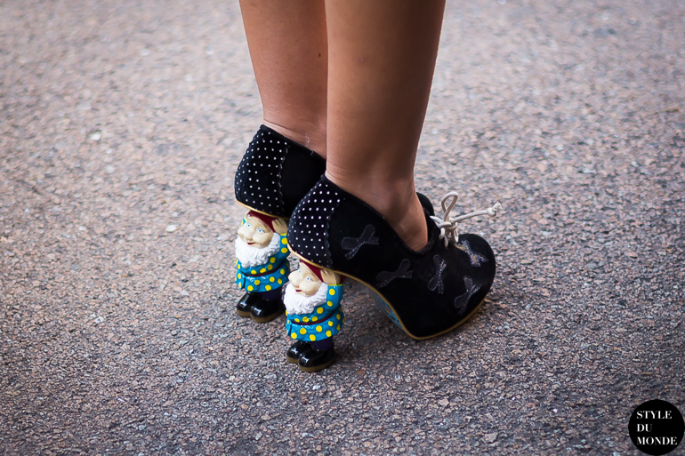 Gnome Heels Street Style Street Fashion by STYLEDUMONDE Street Style Street Fashion blog