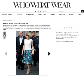 Style Du Monde on Who What Wear January 22 2014 Perfect outfit Ideas for every age Anna Wintour Street Style Street Fashion