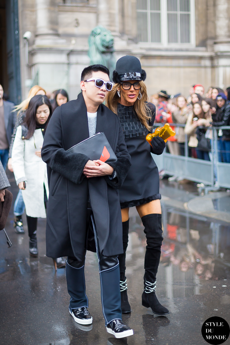 Bryanboy and Anna Dello Russo Street Style Street Fashion by STYLEDUMONDE Street Style Fashion Blog