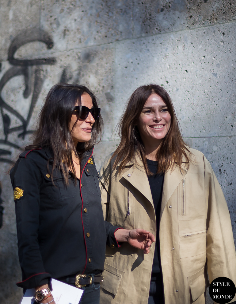 Capucine Safyurtlu & Claire Dhelens Street Style Street Fashion by STYLEDUMONDE Street Style Fashion Blog