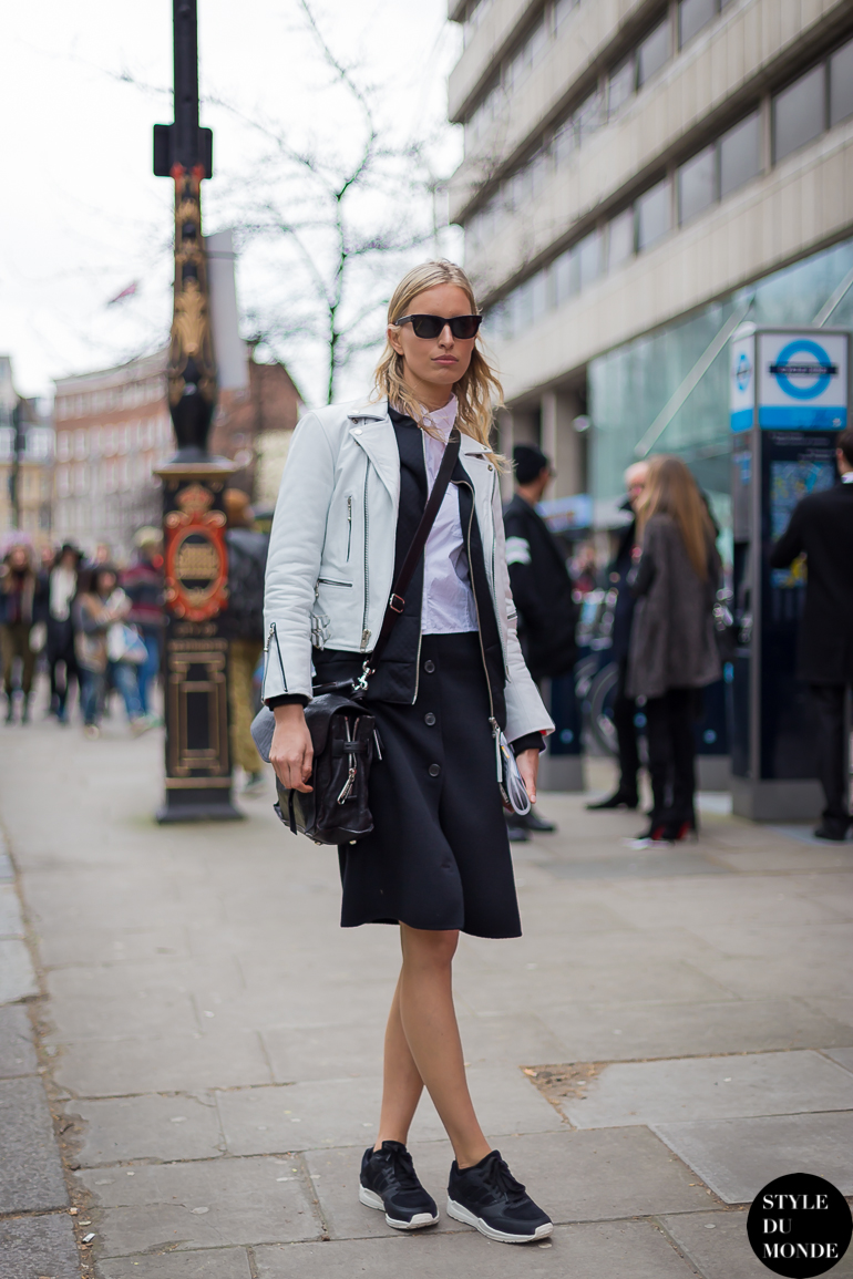 London Fashion Week FW 2014 Street Style: Karolina Kurkova ...