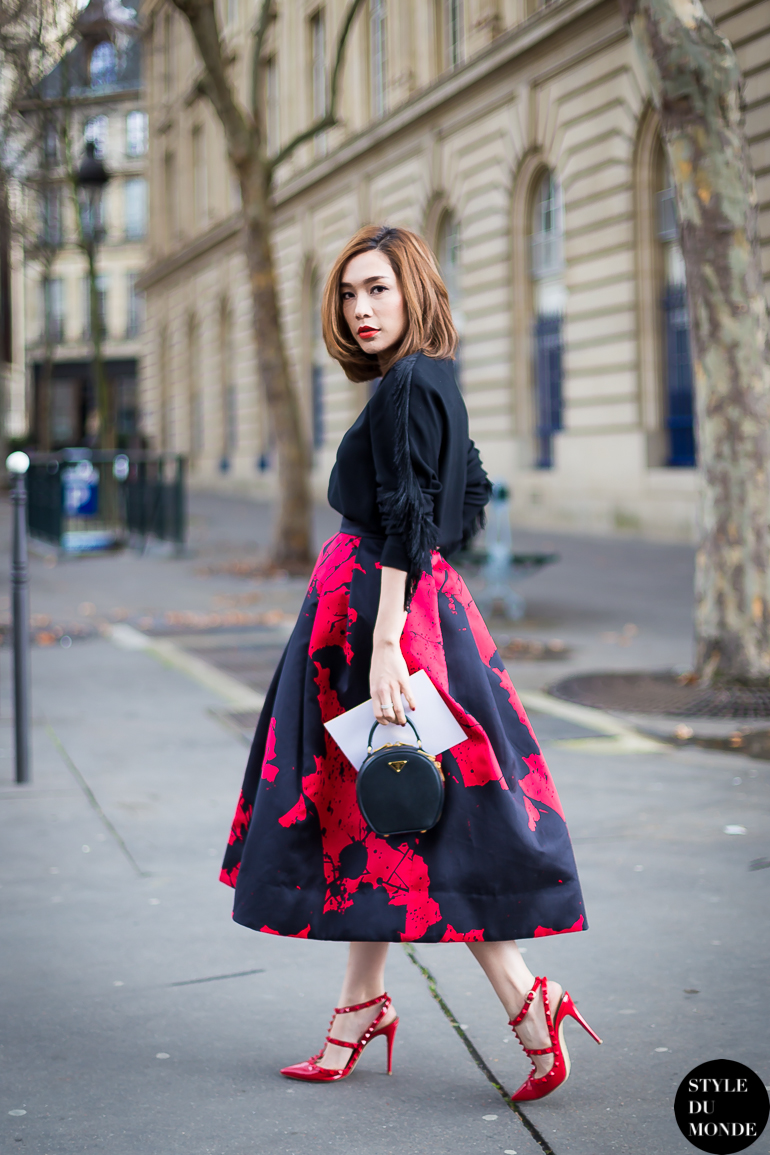 Paris Fashion Week Fw 2014 Street Style May Buranasiri