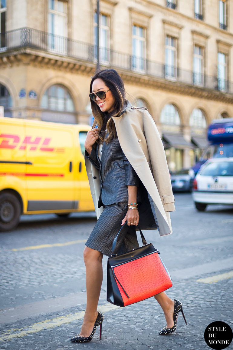 Paris Fashion Week FW 2014 Street Style: Aimee Song ...