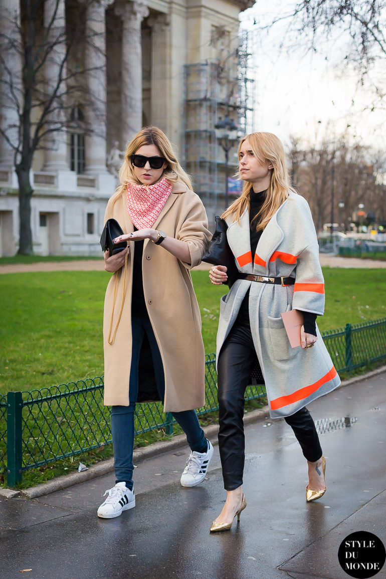 Camille Charrière & Pernille Teisbæk Street Style Street Fashion by STYLEDUMONDE Street Style Fashion Blog