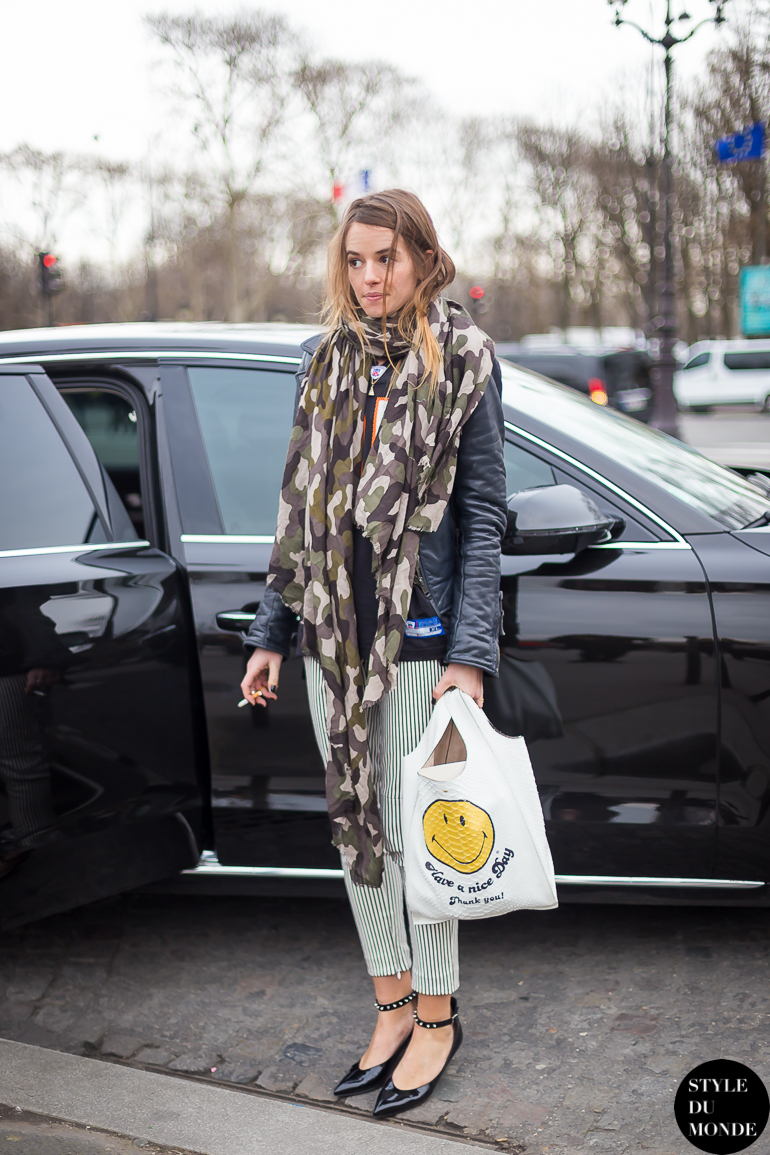 Paris Fashion Week Fw 2014 Street Style Carlotta Oddi