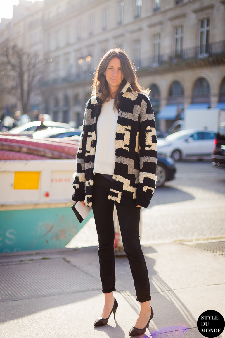 Paris Fashion Week Fw 2014 Street Style Geraldine Saglio