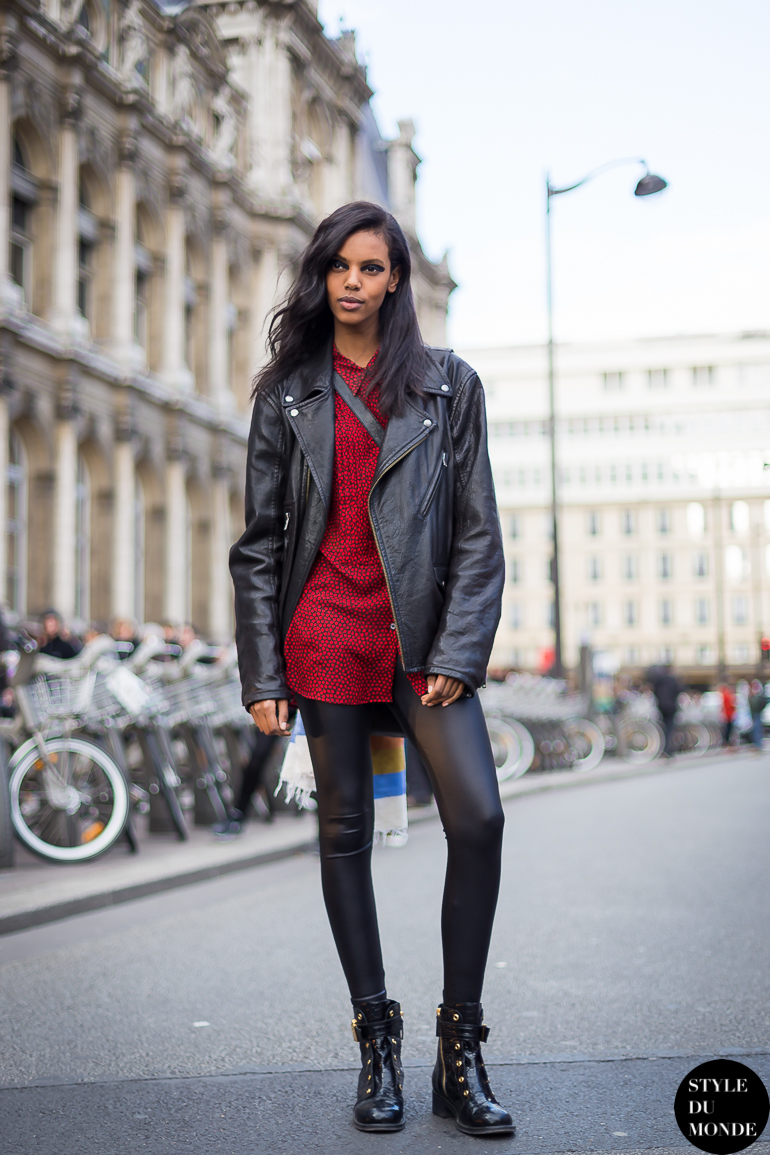 Paris fashion week fw 2014 street style grace mahary style du monde street style street Grace fashion style chicago