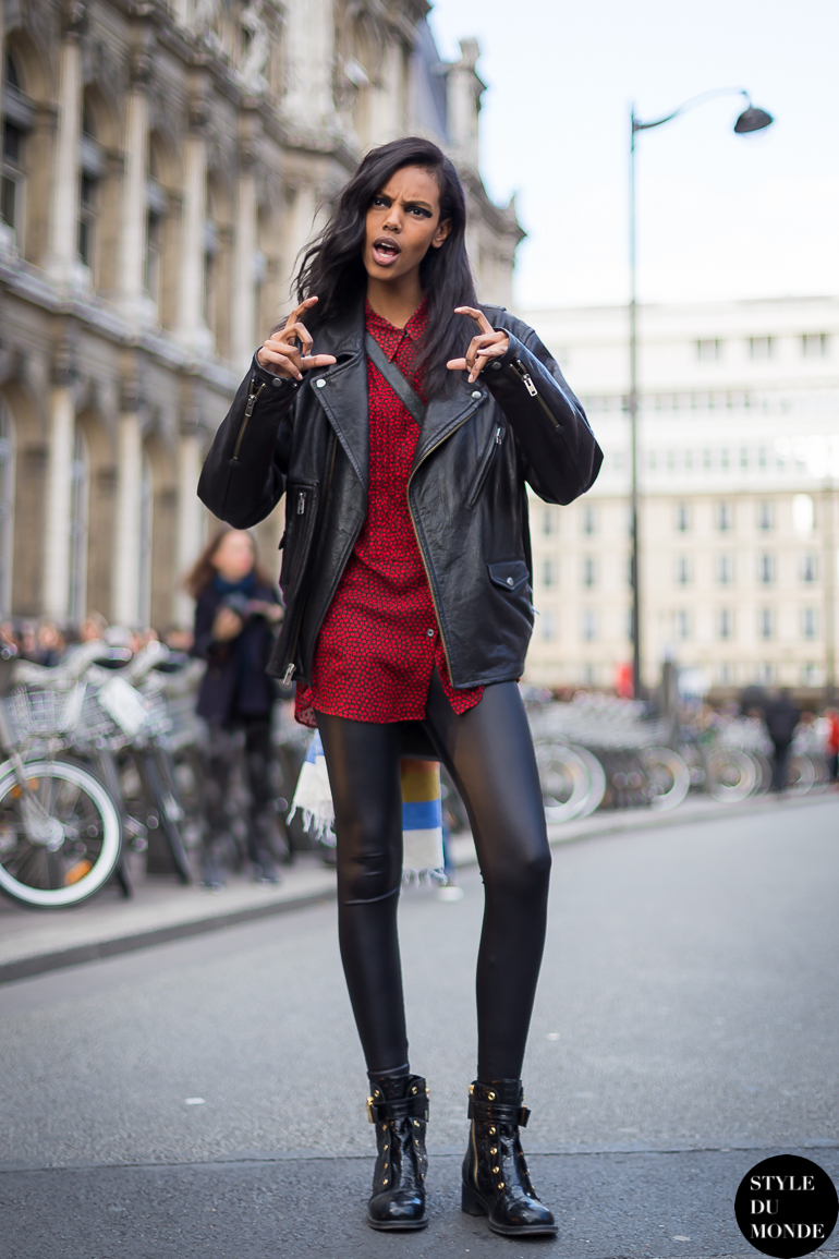 Grace Mahary funny Street Style Street Fashion by STYLEDUMONDE Street Style Fashion Blog