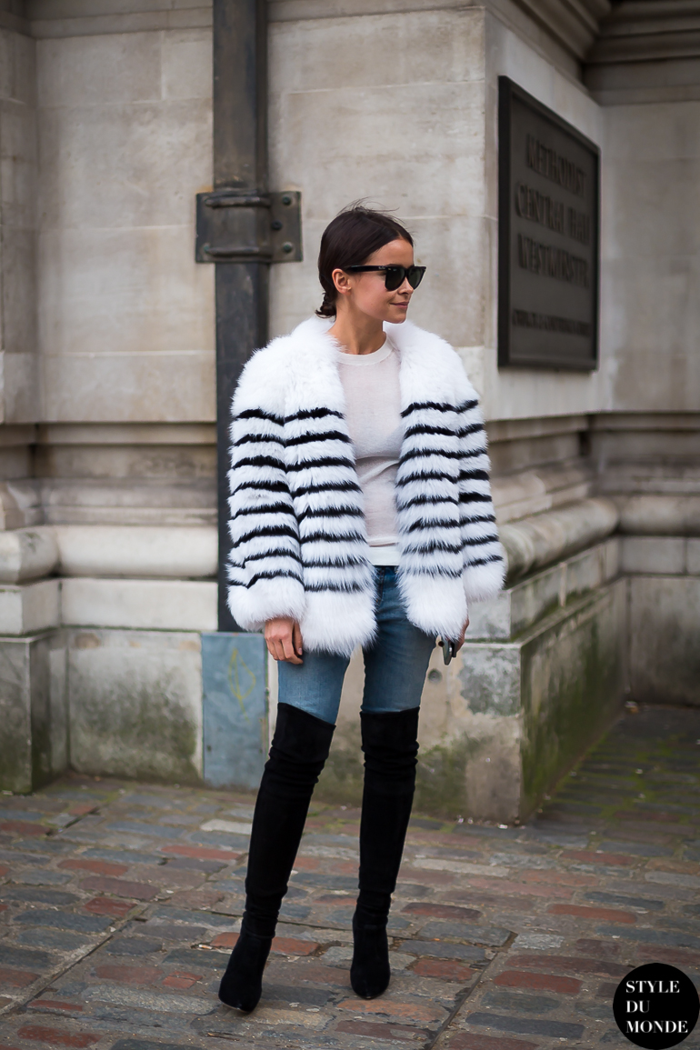 London Fashion Week Fw 2014 Street Style Miroslava Duma