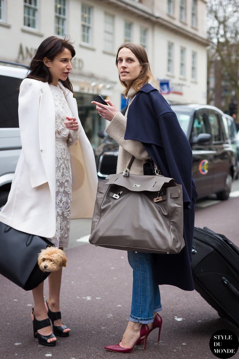 Vanessa Traina and Caroline Sieber Street Style Street Fashion by STYLEDUMONDE Street Style Fashion Blog