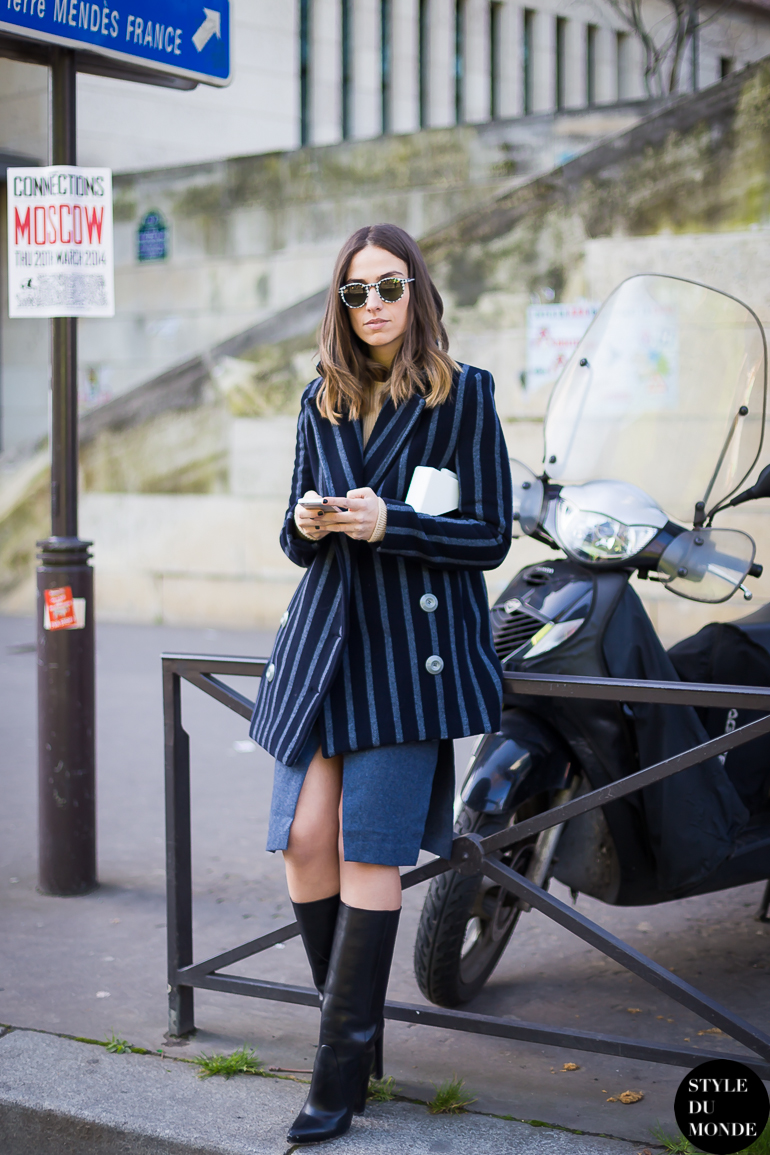 Erika Boldrin of My Free Choice blog Street Style Street Fashion by STYLEDUMONDE Street Style Fashion Blog