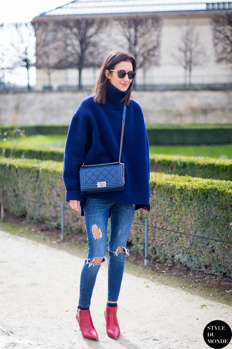 Paris Fashion Week Fw 2014 Street Style Golestaneh Mayer