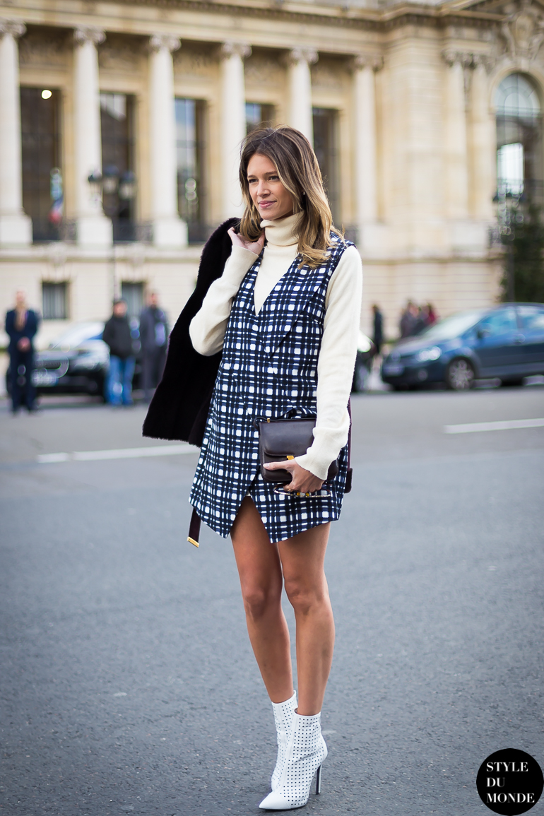 Plaid Dress Style Du Monde Street Style Street Fashion Photos
