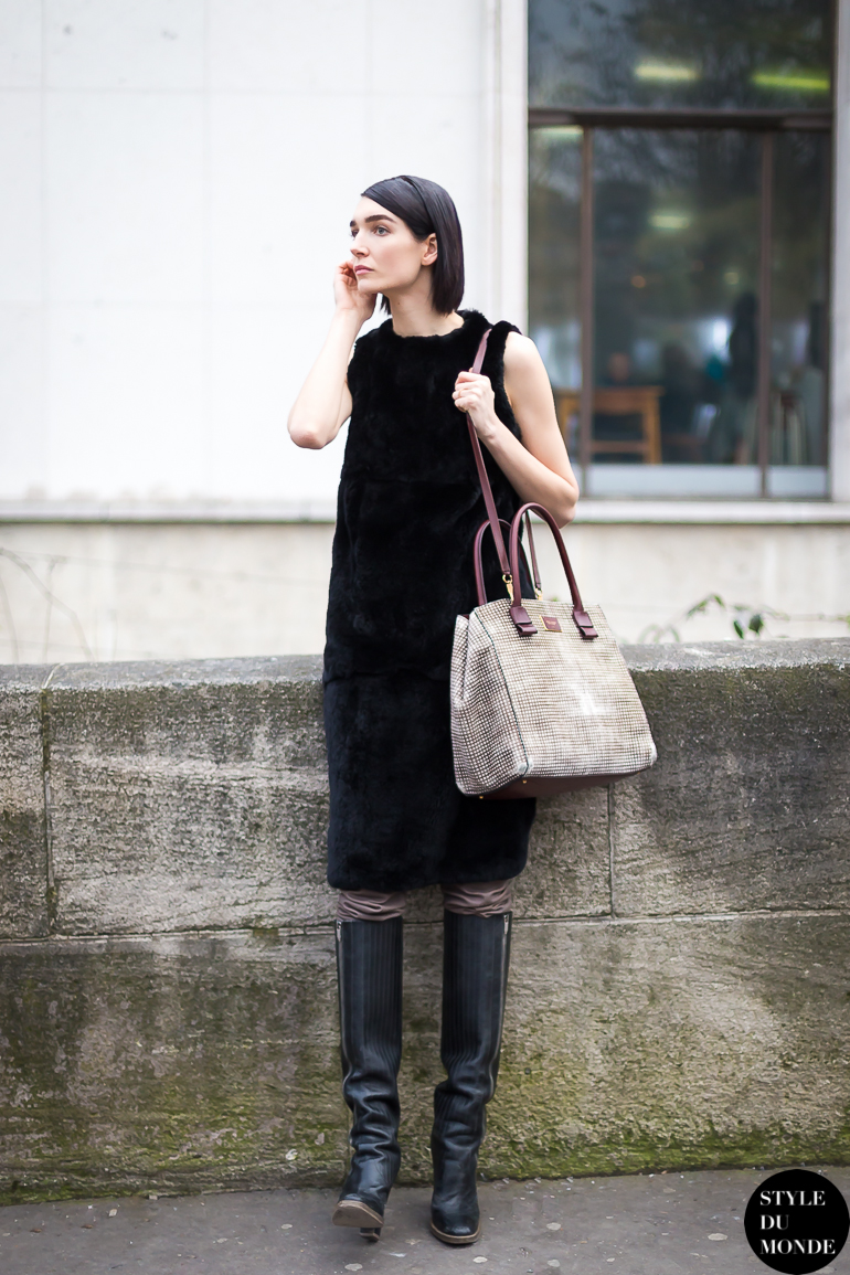 Olivier Theyskens Knee High Boots Style Du Monde Street Style Street Fashion Photos