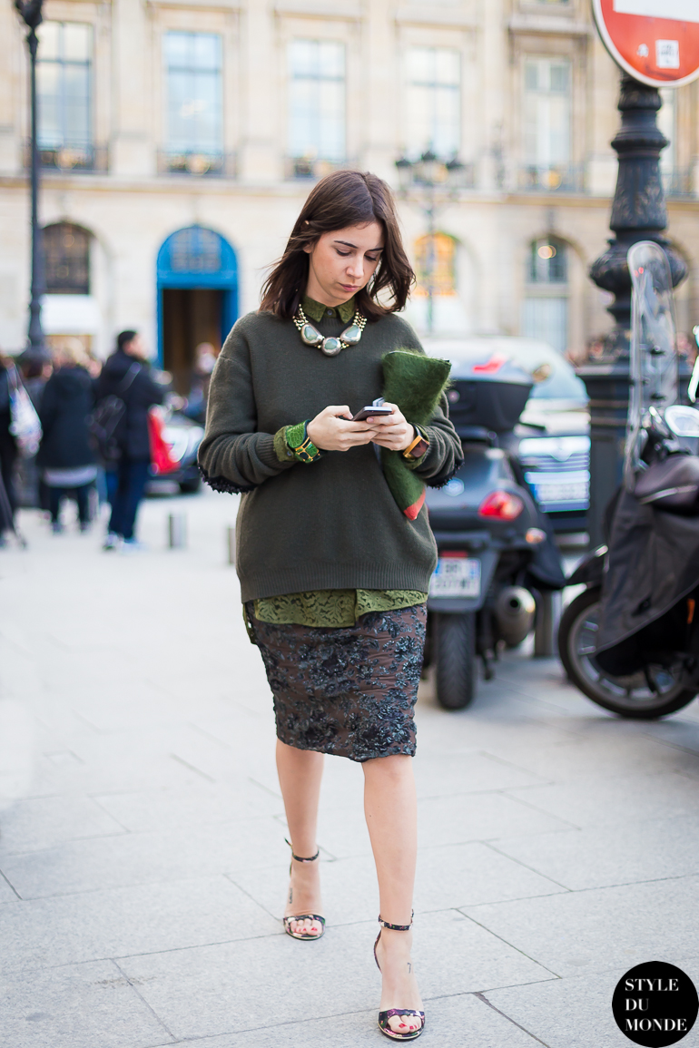 Paris Fashion Week Fw 2014 Street Style Natasha