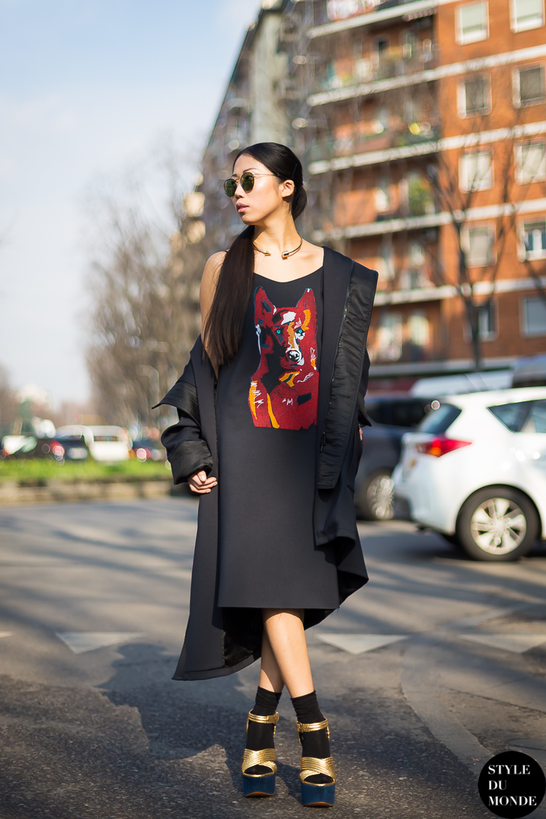 Oksana On Street Style Street Fashion by STYLEDUMONDE Street Style Fashion Blog