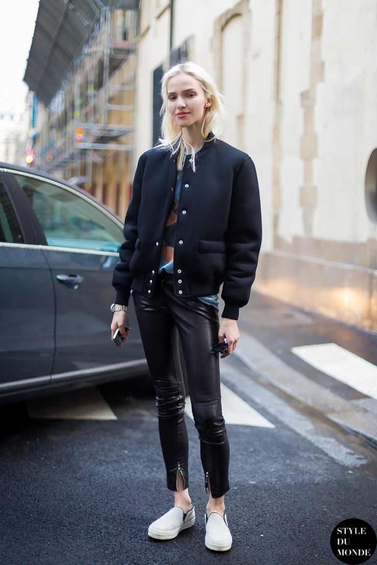 Paris Fashion Week Fw 2014 Street Style Sasha Luss