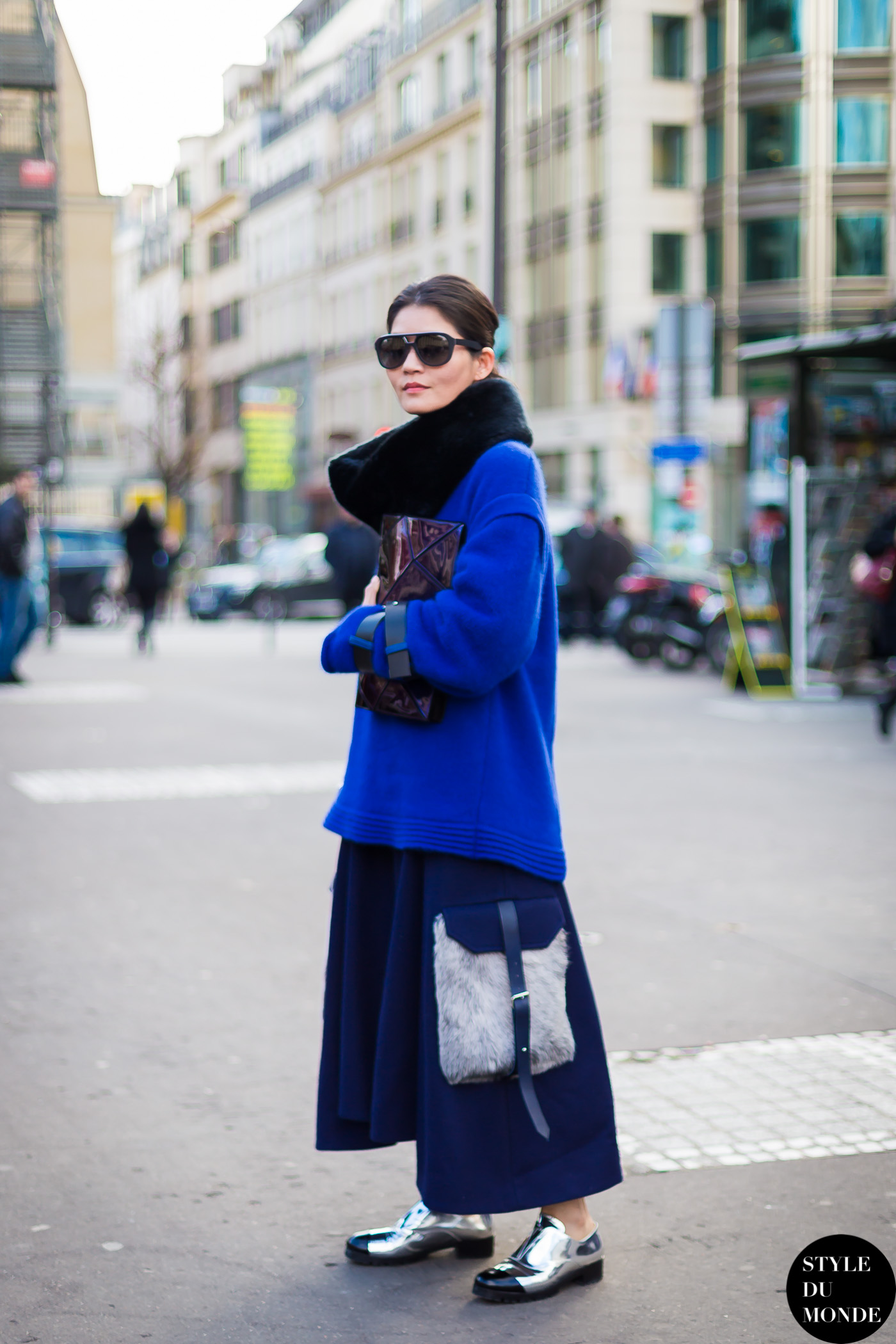Before Hermes fashion show Street Style Street Fashion by STYLEDUMONDE Street Style Fashion Blog
