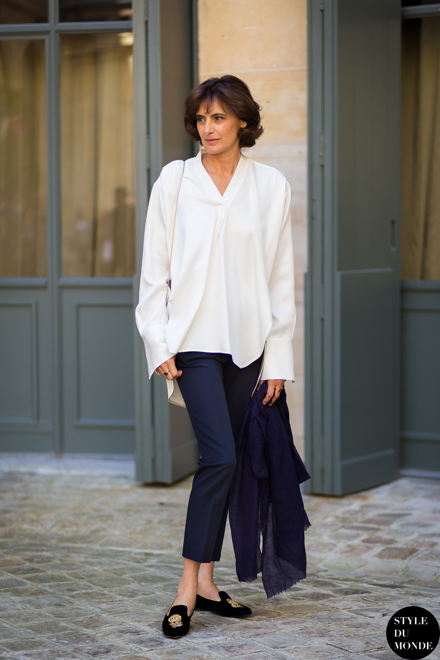 Ines de la Fressange Street Style Street Fashion by STYLEDUMONDE Street Style Fashion Blog