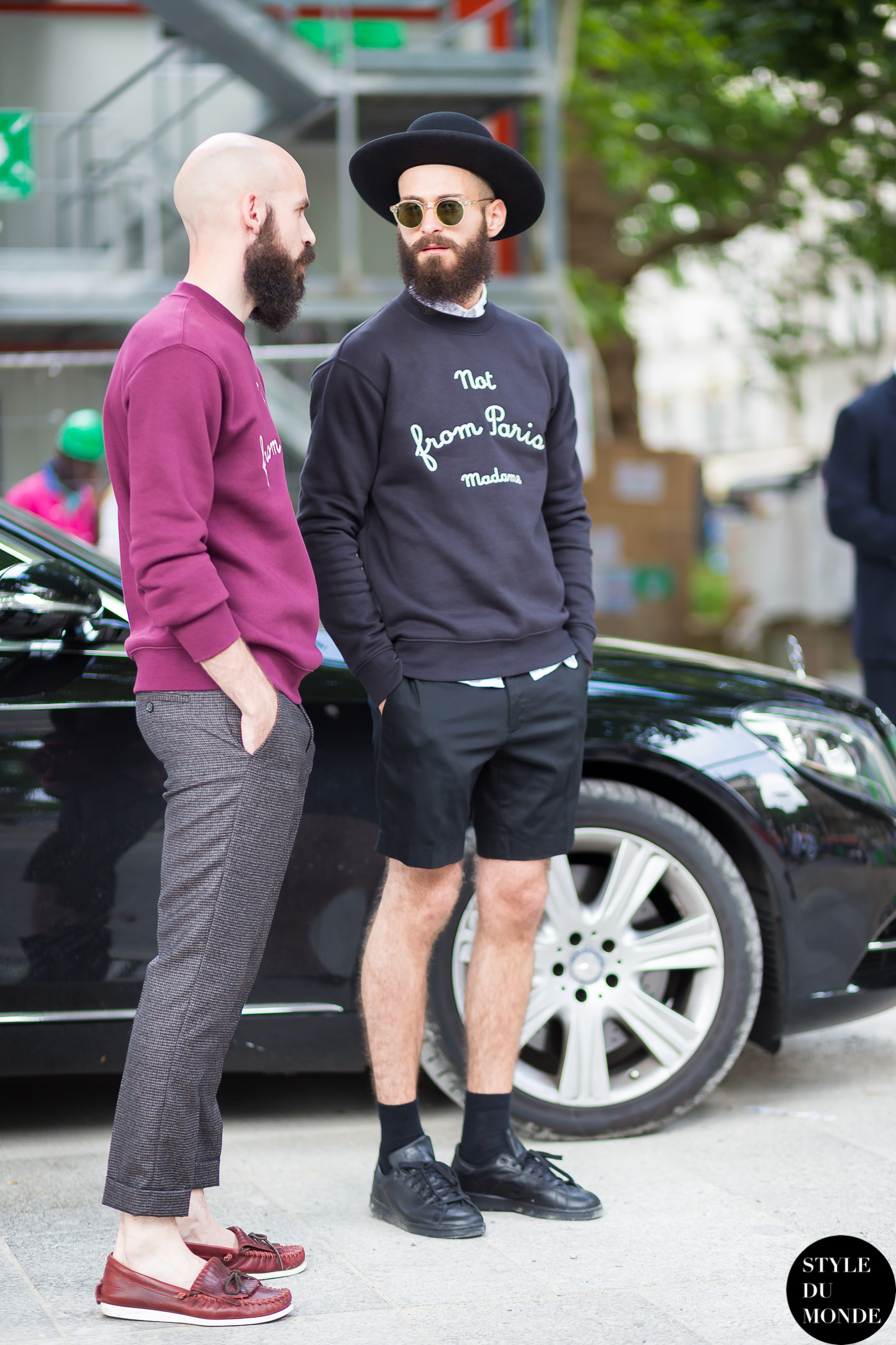 Maxime Schawb and Danny Dos Santos Street Style Street Fashion Streetsnaps by STYLEDUMONDE Street Style Fashion Blog