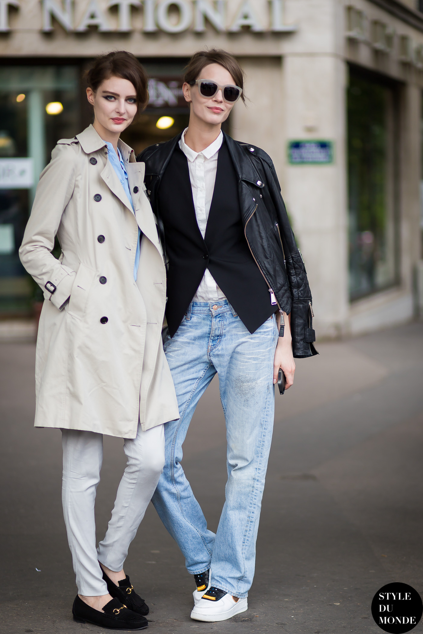 Mina Cvetkovic and Auguste Abeliunaite Street Style Street Fashion Streetsnaps by STYLEDUMONDE Street Style Fashion Blog