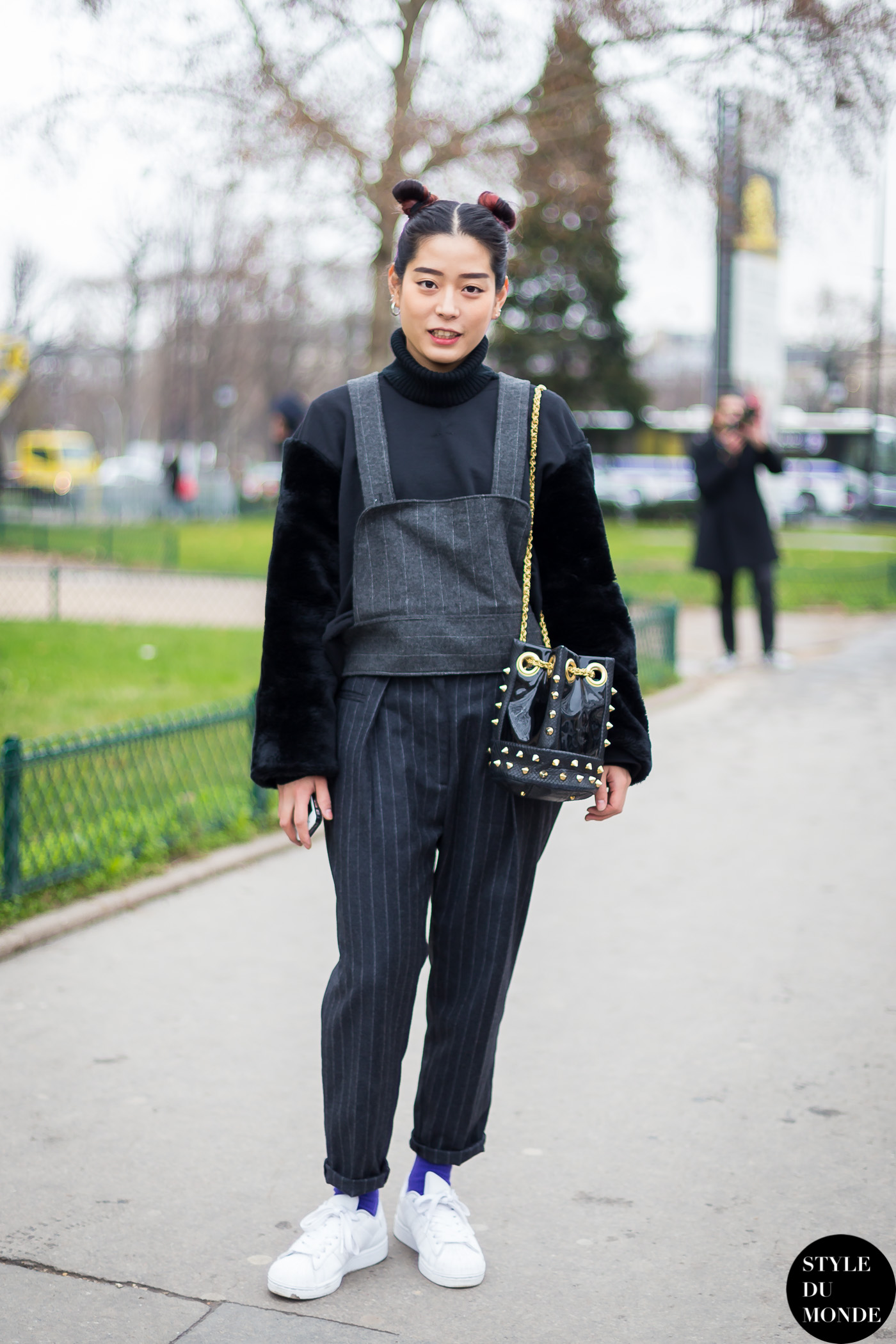 After Chanel Street Style Street Fashion Streetsnaps by STYLEDUMONDE Street Style Fashion Blog