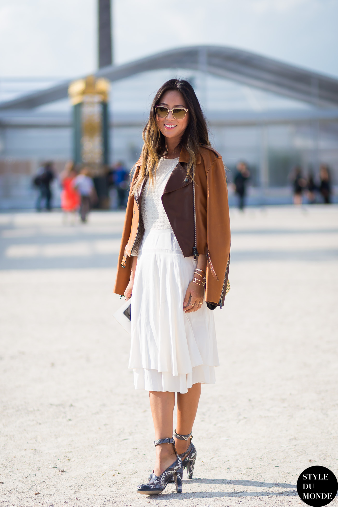 Leather jacket song -  Aimee Song Street Style Street Fashion Streetsnaps By Styledumonde Street Style Fashion Blog