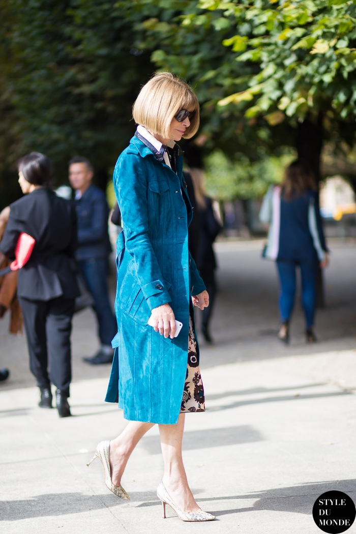 Anna Wintour Street Style Street Fashion Streetsnaps by STYLEDUMONDE Street Style Fashion Blog