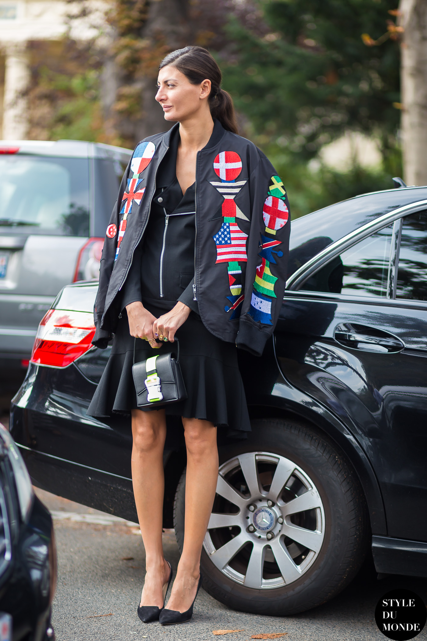Giovanna Battaglia Street Style Street Fashion Streetsnaps by STYLEDUMONDE Street Style Fashion Blog