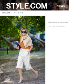 Camille Charriere Street Style Street Fashion Streetsnaps bySTYLEDUMONDE on StyleCom